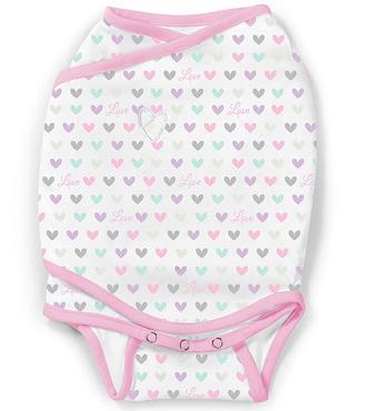 Фото-1 Конверт для пеленания SwaddleMe Kicksie сердечки, размер S/M