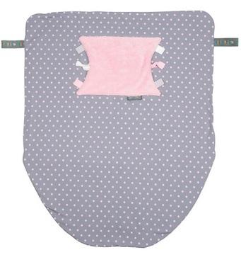 Фото-1 Многофункциональный плед Cheeky Chompers Cheeky Blanket розовый горошек