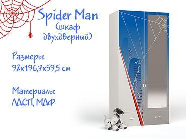 Фото-1 Двухдверный шкаф с зеркалом Спайдер Мэн (Spider Man)