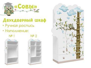 Фото-1 Шкаф двухдверный с ящиками Совы Cleveroom
