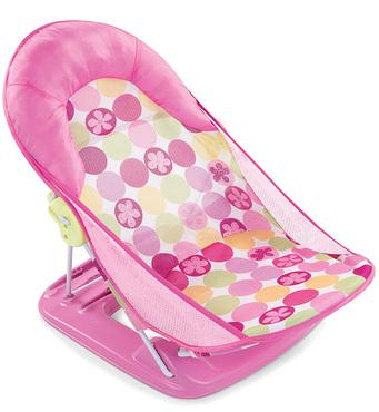 Фото-1 Лежак для купания Summer Infant Deluxe Baby Bather розовый