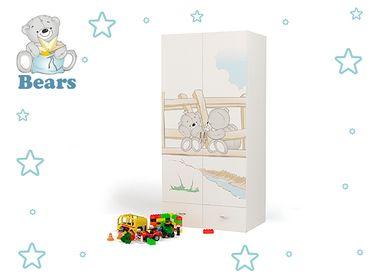 Фото-1 Двухдверный шкаф Мишки Адвеста (Bears Advesta)