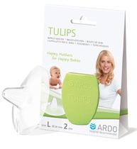 Фото-1 Силиконовая защитная накладка Ardo Tulips на грудь (размер L)