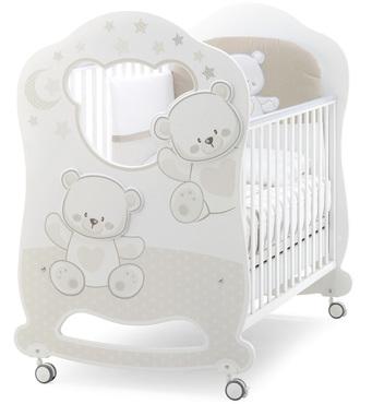 Фото-1 Детская кровать Italbaby Jolie Oblo белый/кремовый