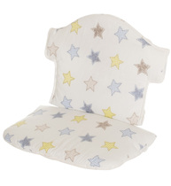 Фото-1 Мягкая вставка для стульчика Swing белая со звездами (цвет 132)