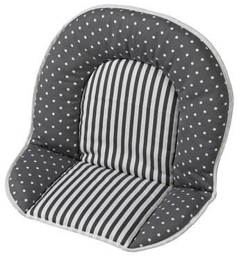 Фото-1 Мягкая вставка для стульев Family, Filou серая в горошек и полоску (цвет 154)