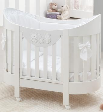 Фото-1 Овальная кровать Italbaby Happy Family Oval белая