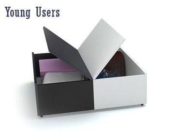 Фото-1 Выдвижной журнальный столик с ящичками VOX Young Users арт.4002881