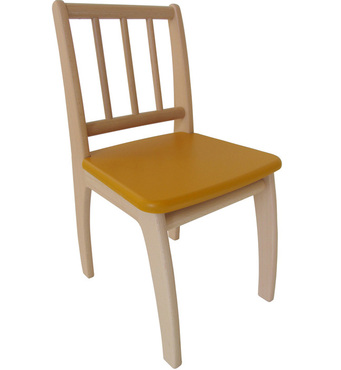 Фото-1 Детский стульчик Bambino желтый