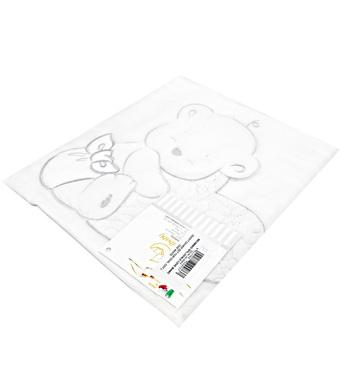 Фото-1 Комплект постельного белья Italbaby Love Oval, 2 предмета, белый