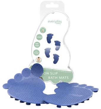 Фото-1 Коврики для ванной EveryDay Baby с индикатором температуры, 4 шт. cиние