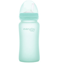 Фото-1 Бутылочка-поильник EveryDay Baby с трубочкой из стекла 240 мл мятная