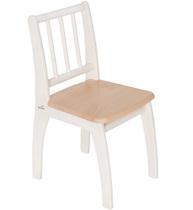 Фото-1 Детский стульчик Bambino белый/натуральный