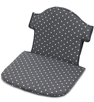 Фото-1 Мягкая вставка для стульчика Swing серая в белый горошек (цвет 154)