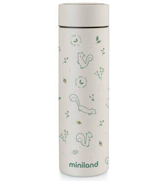 Фото-1 Термос для жидкостей Miniland Natur Thermos, 450 мл бурундуки