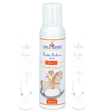 Фото-1 Солнцезащитное молочко-спрей Helan (с высоким фактором защиты SPF 50+) Helan Sole Bimbi, 125 мл