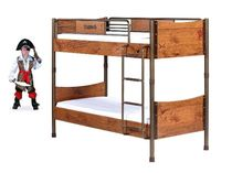 Фото-1 2-х ярусная кровать Black Pirat KS-1401