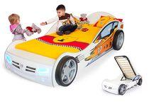 Фото-1 Advesta Кровать машина детская Champion белая