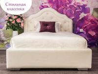 Фото-1 Белая детская кровать с мягкой спинкой Art-G
