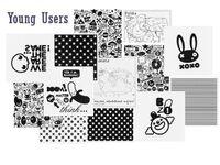 Фото-1 Накладки черно-белые для мебели VOX Young Users