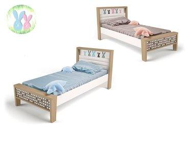 Фото-1 Кровать Зайцы MIX №1 с мягким изголовьем