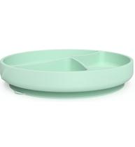 Фото-1 Детская силиконовая тарелка на присоске EveryDay Baby мятно-зеленый