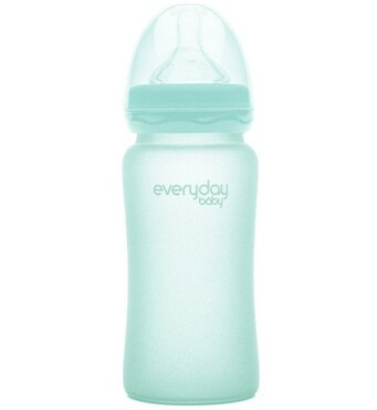 Фото-1 Бутылочка EveryDay Baby с силиконовым покрытием из стекла 240 мл мятная