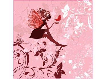 Фото-1 Фотообои Фея на розовом фоне