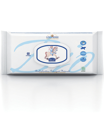 Фото-1 Детские органические влажные салфетки Helan Linea Bimbi (60 штук)