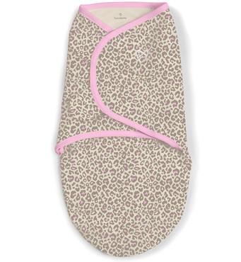 Фото-1 Конверт на липучке Swaddleme (розовый/леопард), размер S/M