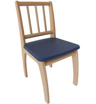 Фото-1 Детский стульчик Bambino синий
