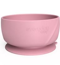Фото-1 Детская силиконовая глубокая тарелка на присоске EveryDay Baby розовая