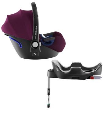 Фото-1 Комплект: автокресло Baby-Safe² i-Size + база FLEX Blue Burgundy Red