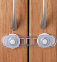 Фото-1 Универсальный mini-замок для дверей на присоске Clippasafe CL85 (2 шт.) прозрачный