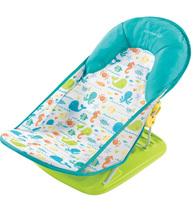 Фото-1 Лежак для купания Summer Infant Deluxe Baby Bather бирюзовый с морскими обитателями