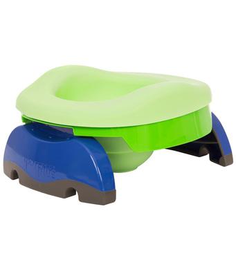 Фото-1 Комплект: складной дорожный горшок Potette Plus с силиконовой вставкой и пакетами 10 шт.