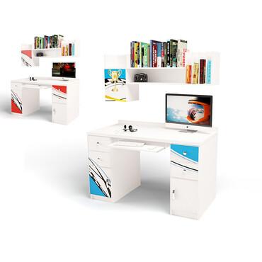 Фото-1 Компьютерный стол с полкой / без полки La-Man ABC-King