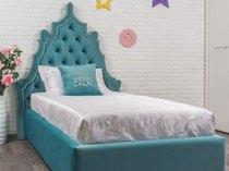Фото-1 Кровать детская с фигурным изголовьем Art-K бирюзовая