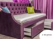 Фото-3 Кровать-диван для девочки Art-D фиолетовый