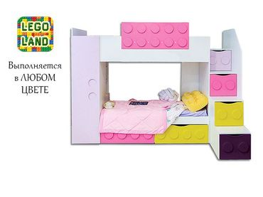 Фото-1 Кровать двухъярусная Леголенд