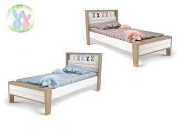 Фото-1 Кровать Зайцы MIX №2 с мягкой спинкой