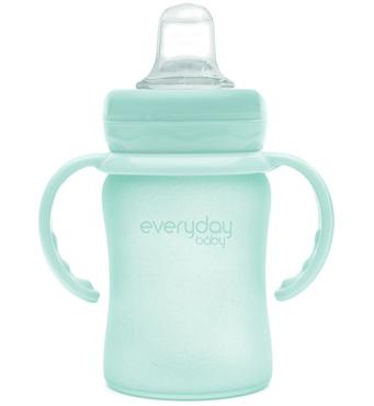 Фото-1 Бутылочка-поильник EveryDay Baby с мягким носиком из стекла 150 мл мятная