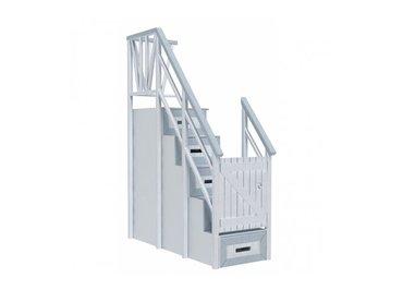 Фото-1 Лестница с ящиками Белый Кит Cleveroom