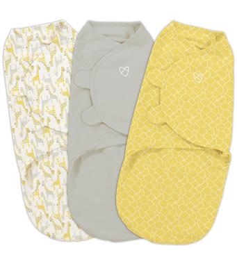 Фото-1 Набор конвертов для пеленания на липучке SwaddleMe Grey Yellow Safari (3 шт.), размер S/M
