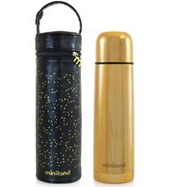 Фото-1 Термос для жидкостей Miniland Deluxe с сумкой 500 мл золотой