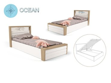 Фото-1 Мягкая кровать с подъемным механизмом Ocean MIX №6
