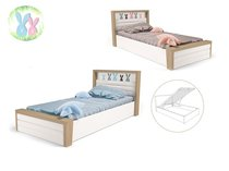Фото-1 Мягкая кровать Зайцы MIX №6 с подъемным механизмом
