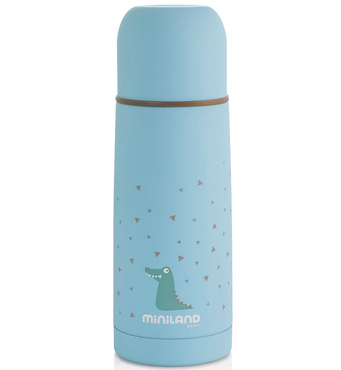 Фото-1 Термос для жидкостей Miniland Silky Thermos голубой, 350 мл