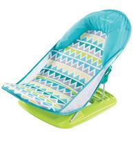 Фото-1 Лежак для купания Summer Infant Deluxe Baby Bather голубой/зигзаг