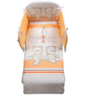 Фото-1 Комплект постельного белья Italbaby Amici, 5 предметов бело-оранжевый